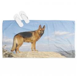 Ефектна плажна кърпа Немска овчарка - German Shepherd