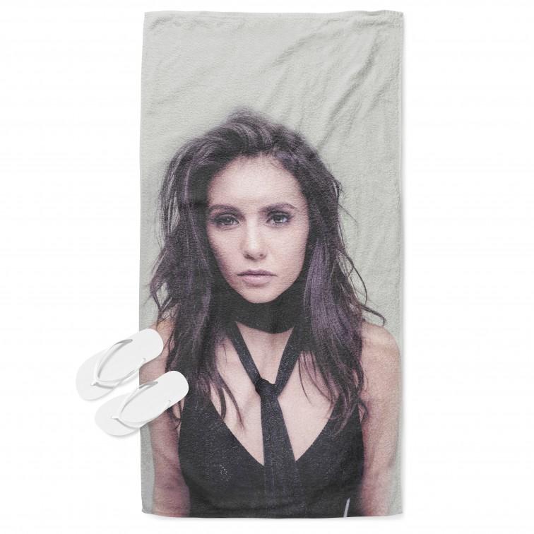 Фенска плажна кърпа Нина Добрев - Nina Dobrev