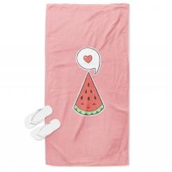 Плажна кърпа Обичам диня - I Love Watermelon