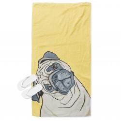 Ефектна кърпа за плаж Рисувано куче - Painted Dog