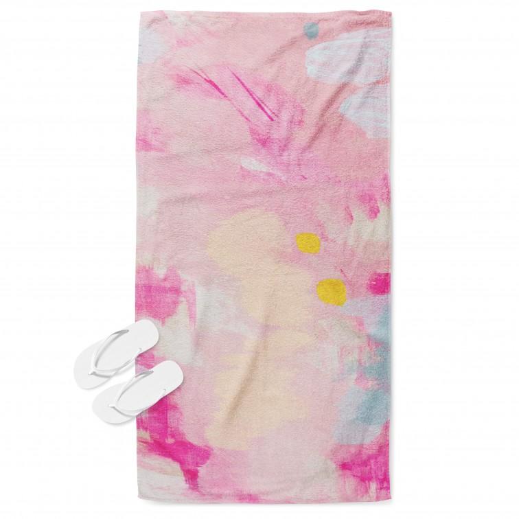 Уникална кърпа за плаж Розови шарки - Pink Pattern