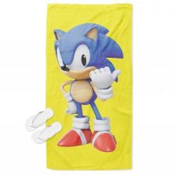 Детска плажна кърпа Соник - Sonic