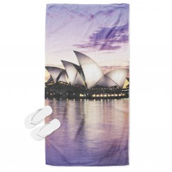 3Д кърпа за плаж Сидни - Sydney Landscape