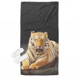 3D хавлиена кърпа за плаж Тигър - Tiger
