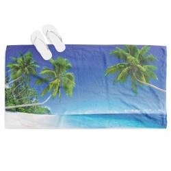 Хавлиена плажна 3D кърпа Тропически плаж - Tropical Beach