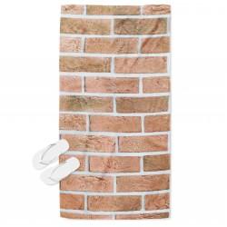 Интересна плажна кърпа Тухли - Bricks