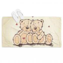 Плажна кърпа Влюбени мечета - Bears in Love