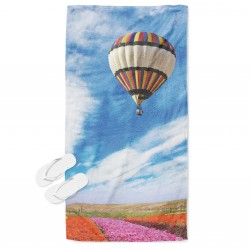 Плажна хавлия Въздушен балон в небето - Balloon into the Sky