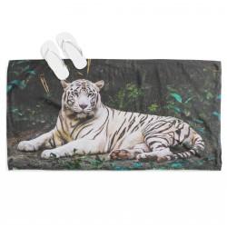 Ефектна хавлия за плаж Бял тигър - White Tiger