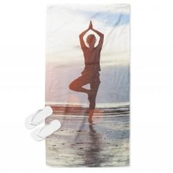 Ефектна кърпа за плаж Йога - Yoga