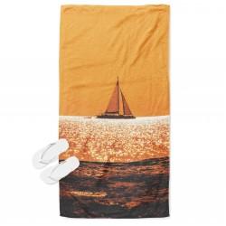 Уникална кърпа за плаж Лодка по залез - Sunset Boat