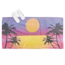 Плажна хавлия Залез на морето - Sunset on the Beach