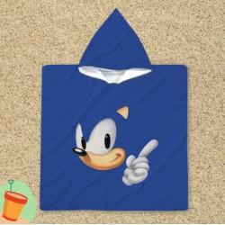 Детско пончо за плаж Соник в синьо - Sonic Blue