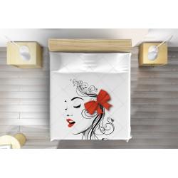 3D покривало за легло Арт момиче - Art Girl