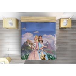 Кувертюра с анимационни герои Барби принцеси - Barbie Princesses