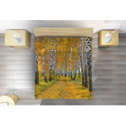Кувертюра за легло Брези през есента - Birch in Autumn