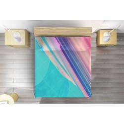 Дизайнерска кувертюра Цветна вълна - Colorful wave