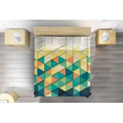3D арт шалте Цветни триъгълници - Colorful Triangles