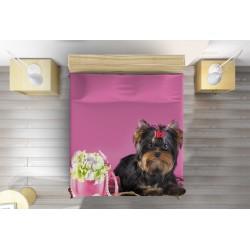 Шалте за легло Йорки териер - Yorkshiere Terrier Pink