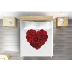 Модерно шалте за легло Сърце от рози - Heart of Roses
