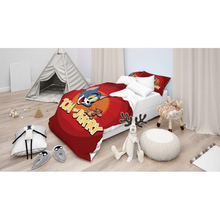 Детски комплект спално бельо Том и Джери - Tom Jerry Bros