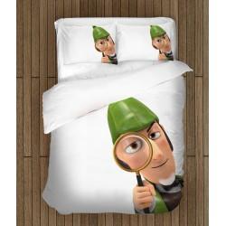 Ефектен спален комплект за деца Шерлок Гномс - Sherlock Gnomes White