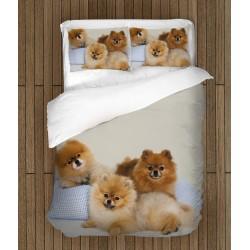 Уникално спално бельо с Померани бебета - Pomeranian Babies