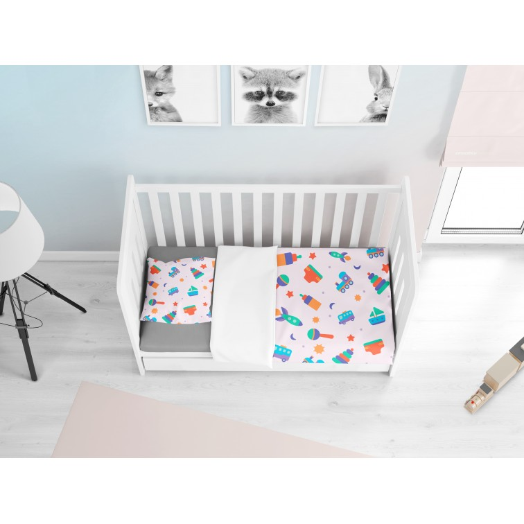 Комплект бебешки чаршафи Бебешки игри - Baby Playing