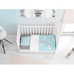 Комплект бебешки чаршафи Биберон Син - Pacifier Blue