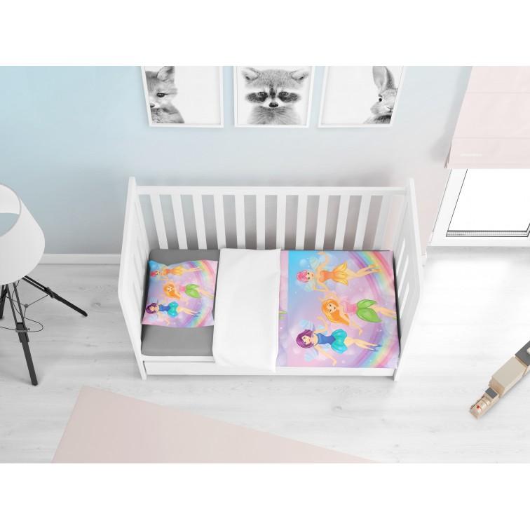 Памучни бебешки чаршафи Феи - Fairies