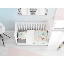 Бебешко спално бельо от Памук Ранфорс Животни - Animals