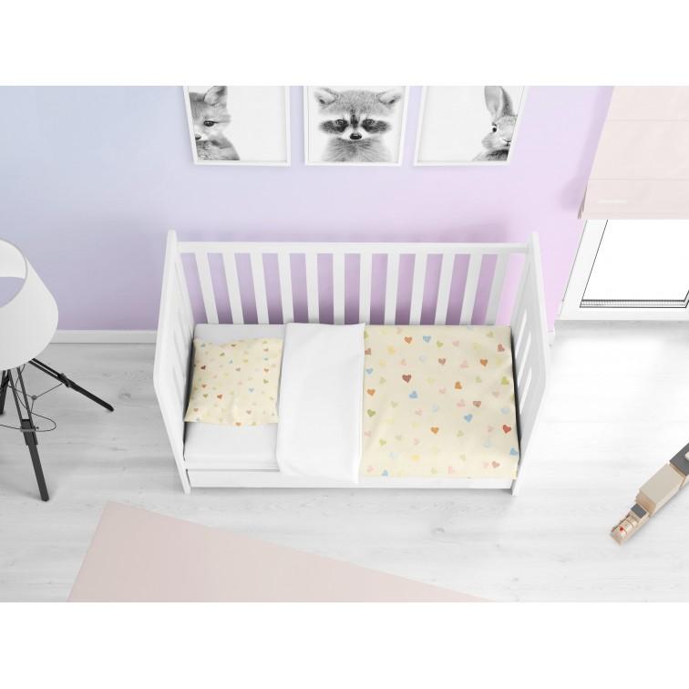Нежно бебешко спално бельо Сърчица - Hearts