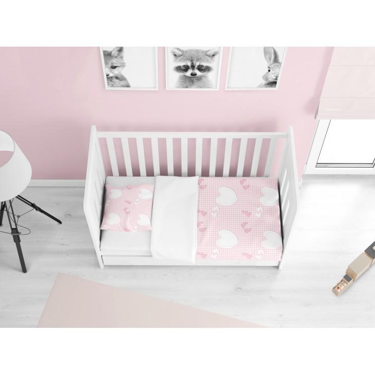 Бебешки чаршафи от памук Момиченце - Newborn baby girl