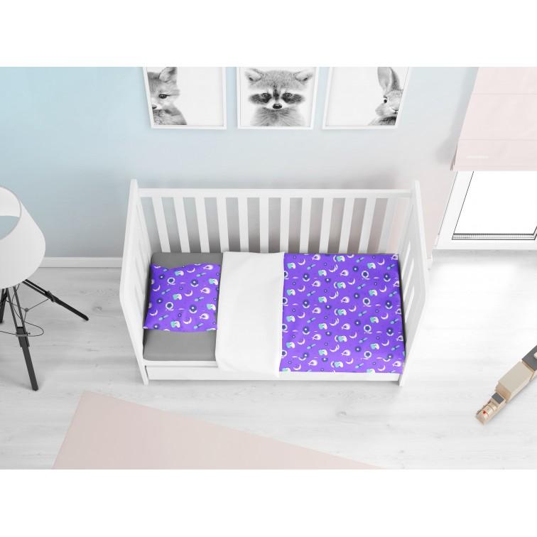 Бебешки чаршафи от памук Бебе Лилаво - Newborn baby purple