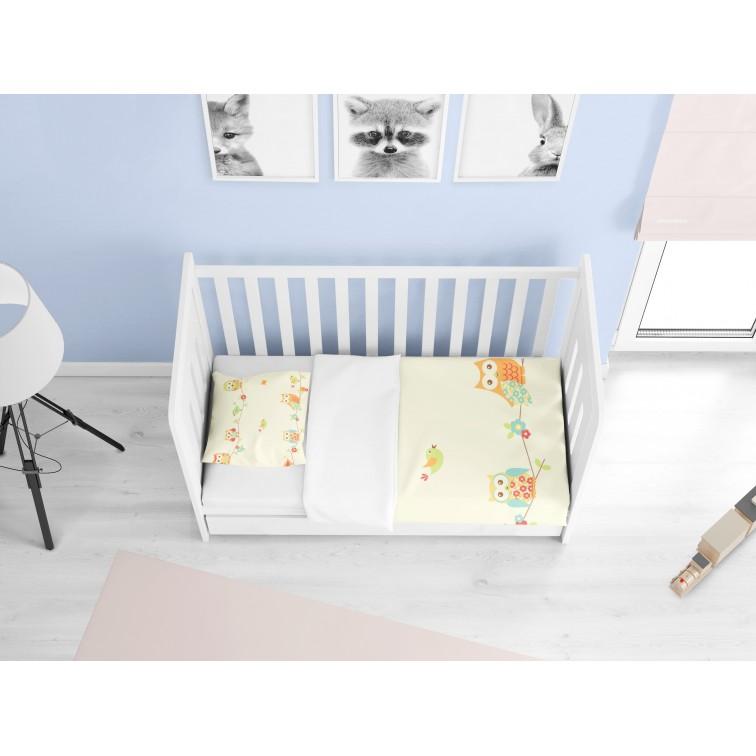 Памучно бебешко спално бельо Птички - Birds
