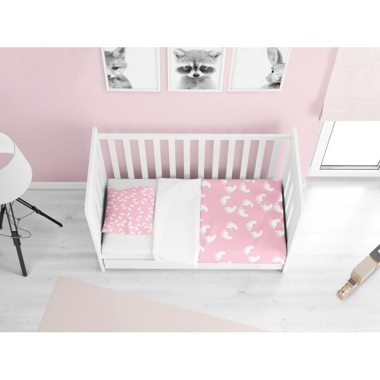 Бебешко спално бельо Стъпки Розово - Steps Pink