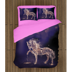 Дизайнерски комплект чаршафи Кон - Water Horse