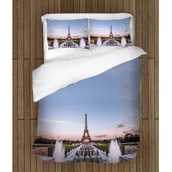 Спално бельо 3D със завивка Айфелова кула - Eiphel Tower