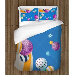 Забавен 3D комплект спално бельо Кръгове - Abstract Cyrcles