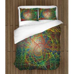 Дизайнерско 3D спално бельо Цветен Хаос - Abstract Chaos