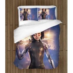 Комплект 3D чаршафи за легло Алита Боен ангел - Alita
