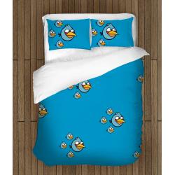 Детско спално бельо Сини птици - Blue Birds