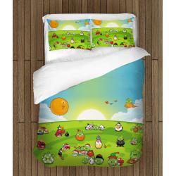 Комплект спално бельо със завивка Енгри Бърдс и приятели - Angry Birds and Friends