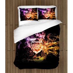 Футболно спално бельо със завивка Арсенал - Arsenal