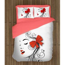 Спално бельо със завивка 3D Арт момиче - Art Girl