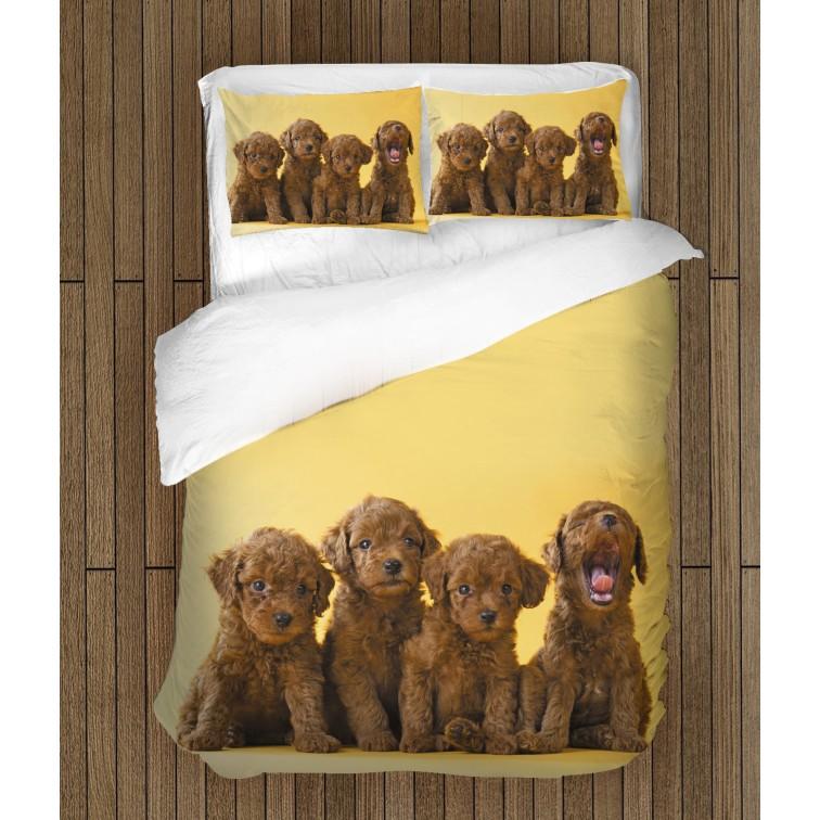 Чаршафи за легло Бебета пудели - Baby Puddles