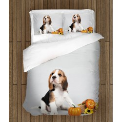Спално бельо с 3D принт бебе Бигъл - Baby Beagle