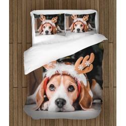 Спален комплект Коледен бигъл - Christmas Beagle