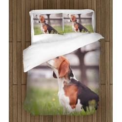 3D спален комплект Бигъл в гората - Beagle in the Wood