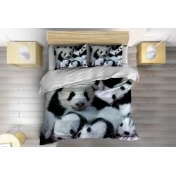 Спално бельо с олекотена завивка Бебета панди - Baby Pandas